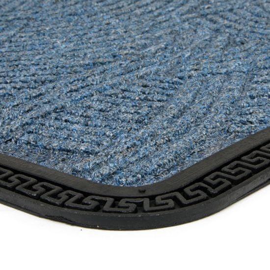 FLOMA Modrá textilní vstupní rohož Chaos - 60 x 40 x 0,8 cm