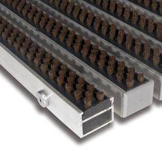 FLOMAT Hnědá hliníková kartáčová venkovní vstupní rohož Alu Super, FLOMAT - 2,7 cm