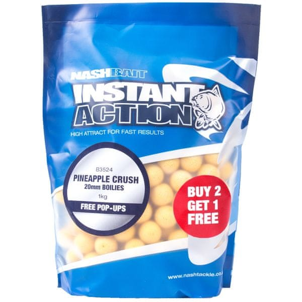 Nash Boilies Instant Action Pineapple Crush 1 kg, 20 mm