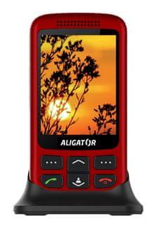Aligator VS900 Senior, červený - rozbaleno