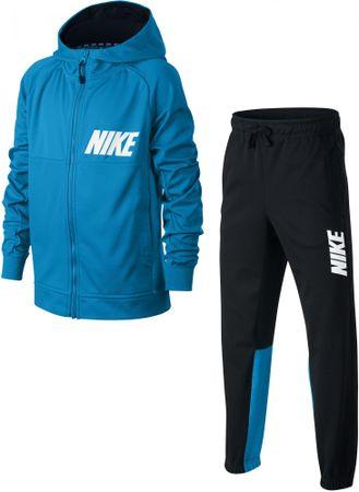 Nike deški komplet B NSW TRK Suit Poly, Equator Blue Black White, S