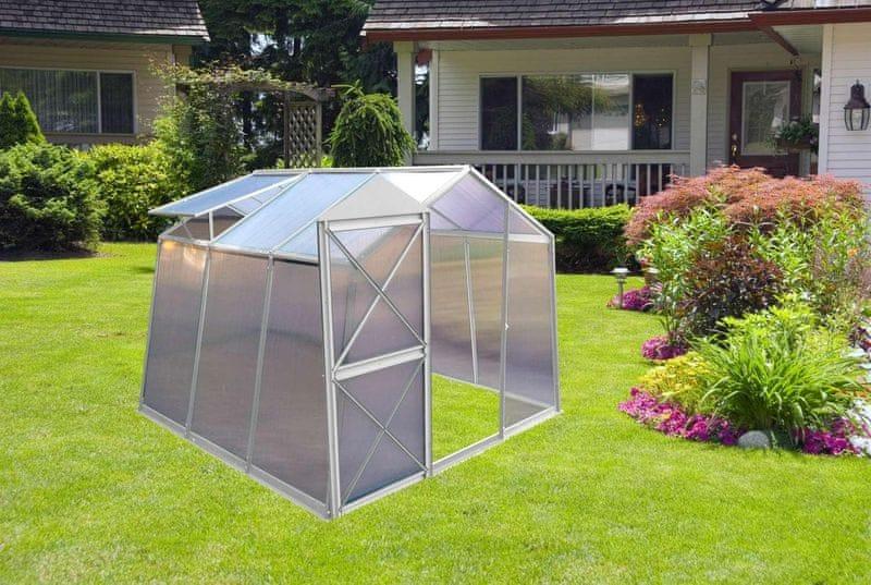 LanitPlast skleník LANITPLAST DODO BIG 8x7 + DÁRKY PC 4 mm šedý