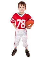 Rappa Karnevalový kostým futbalový hráč detský, veľ. M