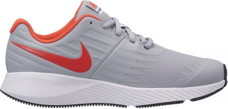 Nike buty do biegania Star Runner GS Running Shoe Wolf Grey Bright Crimson-Black-White 35,5