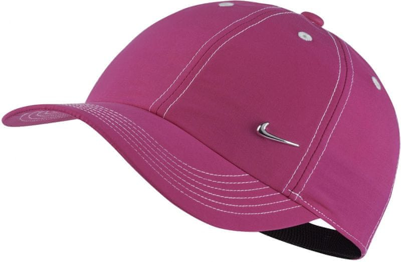 Nike Y NK H86 Cap Metal Swoosh Vivid Pink White Metallic Silver dd4efcef73