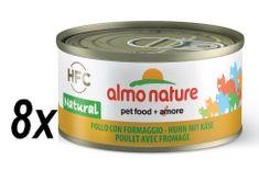 Almo Nature HFC CAT Kuře a sýr 8 x 70g