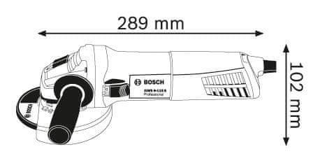 BOSCH Professional kotni brusilnik GWS 9-115 S (0601396101)
