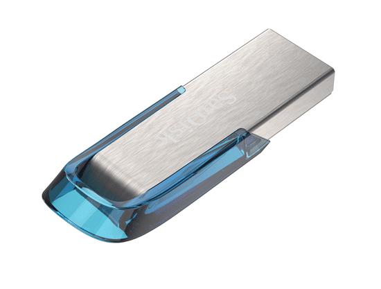 SanDisk USB ključ Ultra Flair, 32 GB, USB 3.0., moder