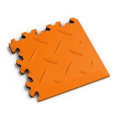 Fortelock Oranžový plastový vinylový rohový nájezd 2016 (diamant) - 14 x 14 x 0,7 cm