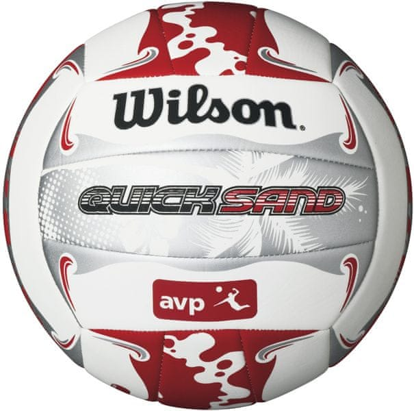 Wilson Avp Quicksand Aloha Volleyball Red/Grey/White