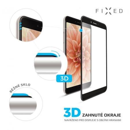 Fixed Keményített védőüveg 3D Full-Cover az Apple iPhone X-re, teljes kijelzőre, 0.33 mm, fekete
