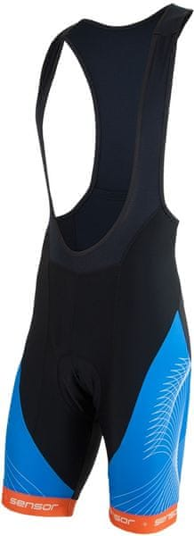 Sensor Cyklo Team pánské kalhoty krátké se šlemi černá/modrá L