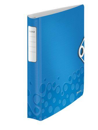 Mobilní kroužkový pořadač 4xD kroužky Leitz ACTIVE WOW 5,2 cm metalický modrý