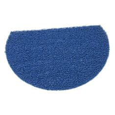 FLOMAT Modrá protiskluzová sprchová půlkruhová rohož Spaghetti - 59,5 x 40 x 1,2 cm