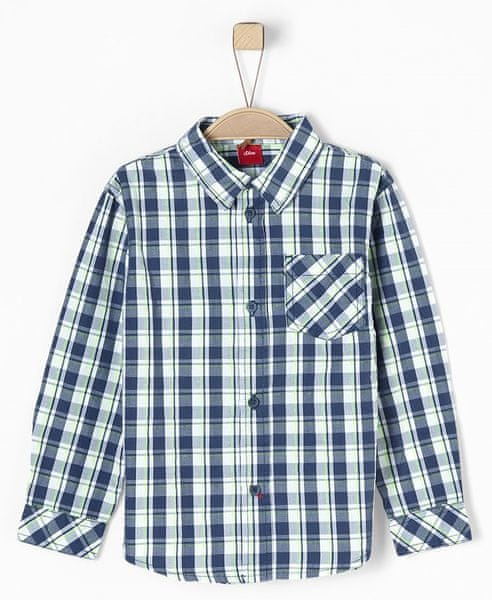 s.Oliver chlapecká košile 116 - 122 modrá