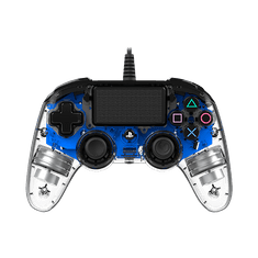 Nacon Wired Compact Controller / PS4, průhledný modrý (ps4hwnaconwicccblue)