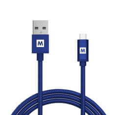 MAX MUC2100BL kabel micro USB 2.0 opletený 1m, modrá