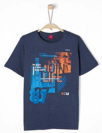 s.Oliver T-shirt chłopięcy M niebieski