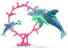 Schleich set delfin z otroki 41463