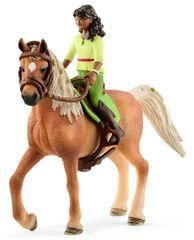 Schleich figurka Sarah z arabską klaczą  42414