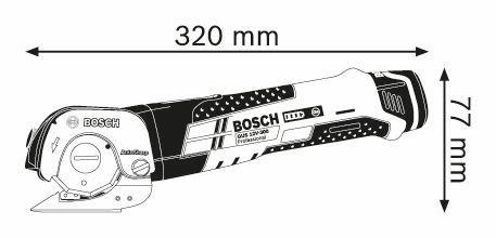 BOSCH Professional Univerzalne akumulatorske škare GUS 12V-300 Professional (06019B2901)