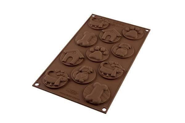 Silikomart Silikonová forma na čokoládu – psí známky