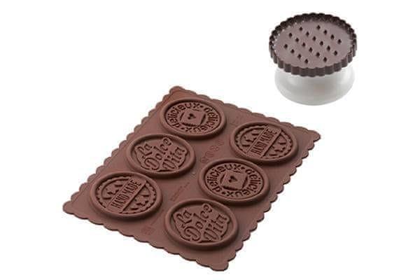 Silikomart Sada na čokoládové sušenky Dolce Vita