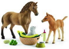 Schleich Quarter ló csikóval, kiskutyával és kiegészítőkkel 42432