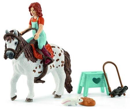 Schleich zestaw figurek Shetland Pony z dziewczynką Mia 42435