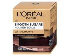 L'Oréal Vyživující a vyhlazující pleťový peeling s bambuckým máslem (Smooth Sugars Nourish Scrub) 50 ml