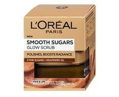 L'Oréal Rozjasňující pleťový peeling s olejem z hroznových semínek (Smooth Sugars Glow Scrub) 50 ml