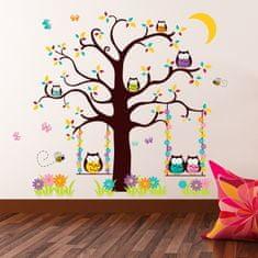 Walplus Samolepky na zeď, sovičky na stromě