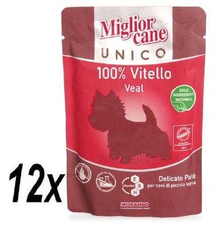 Miglior saszetka Cane Unico, Cielęcina, 12x100g