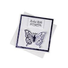 """Giftisimo Svatební přání """"Hodně štěstí novomanželům"""", fialové s motýlem"""