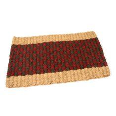 FLOMAT Kokosová vstupní rohož Colored Stripe - 60 x 35 x 2,5 cm