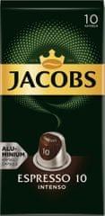 Jacobs Espresso Intenso Intenzita 10 - 100 hliníkových kapslí kompatibilních s kávovary Nespresso® *