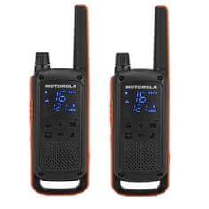 Motorola Walkie Talkie Talkabout T82, oranžno-črn