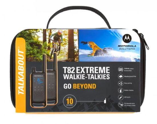 MOTOROLA TLKR T82 Extreme, sárga/fekete