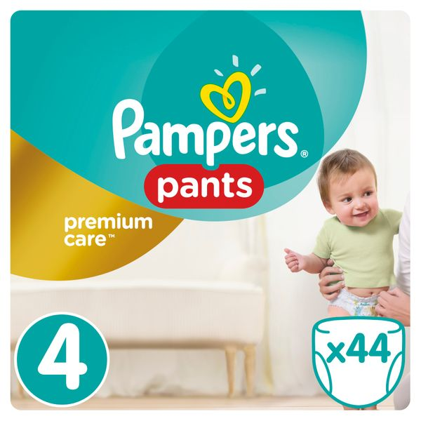 Pampers Plenkové kalhotky Premium Pants 4 Maxi - 8-14 kg, 44ks