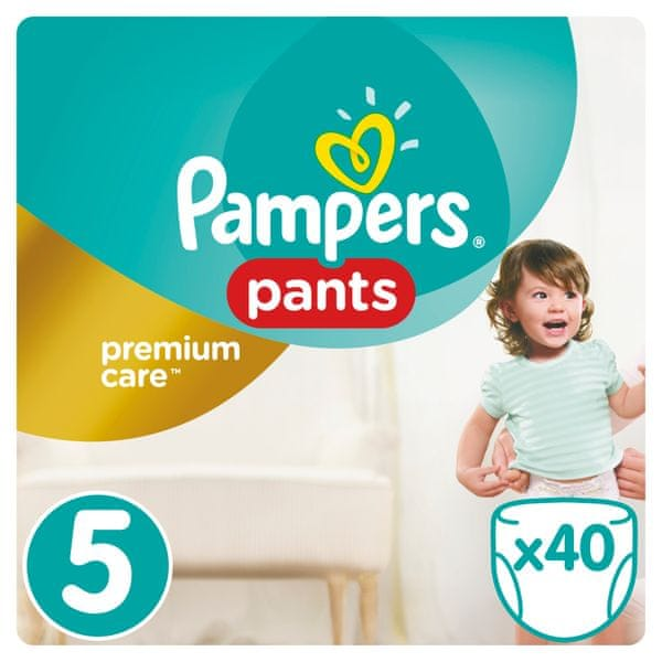 Pampers Plenkové kalhotky Premium Pants 5 Junior - 8-14 kg, 40ks