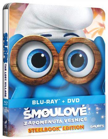 Šmoulové: Zapomenutá vesnice steelbook (BD + DVD)   - Blu-ray