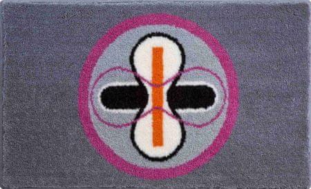 Karim Rashid Luxusní designová česká koupelnová předložka, KARIM 01 70x120 cm, růžová/šedá