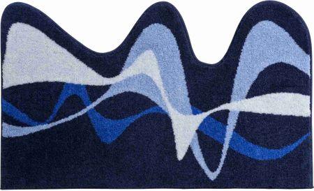 Karim Rashid Luxusní designová česká koupelnová předložka, KARIM 19 75x120 cm, modrá