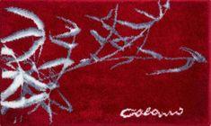 Colani Luxusní designová česká koupelnová předložka, Colani 23 70x120 cm, červená