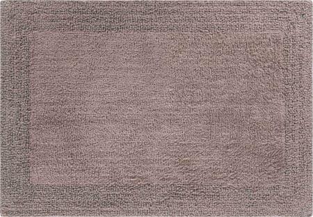 LineaDue Kvalitná bavlnená obojstranná kúpeľňová predložka, PRIMO 70 x 120 cm, hnedá