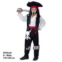 MaDe Kostým Pirát, 110 - 120 cm
