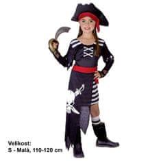 MaDe Kostým Pirátka 110 - 120 cm