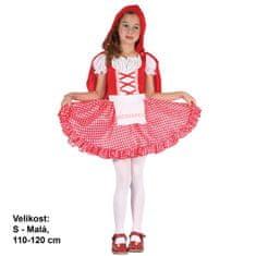 MaDe Šaty na karneval - Červená Karkulka,110 - 120 cm