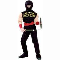 MaDe Detský kostým - Ninja, 110 - 120 cm
