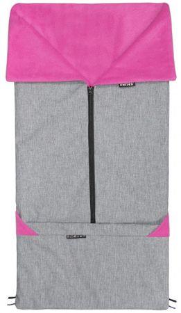 Emitex vreča za voziček 2v1 SEBI, siva/roza